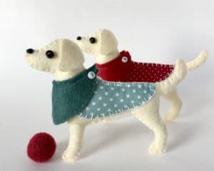 Labrador felt ornaments