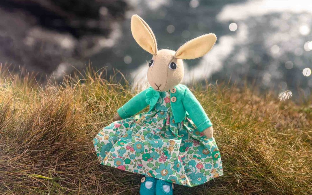 Tabitha – a rabbit doll sewing pattern with removable clothes