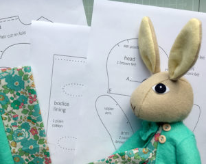 Rabbit doll and templates