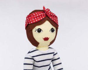 Tilly felt doll pattern