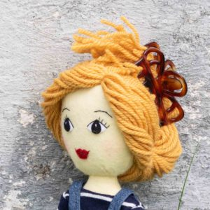 Ellie doll with upswept hair