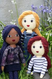 Tilly dolls with yarn hair