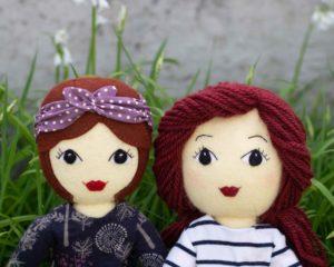 Tilly dolls with felt or yarn hair