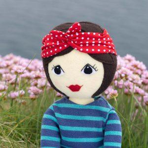 Tilly felt doll with brown hair