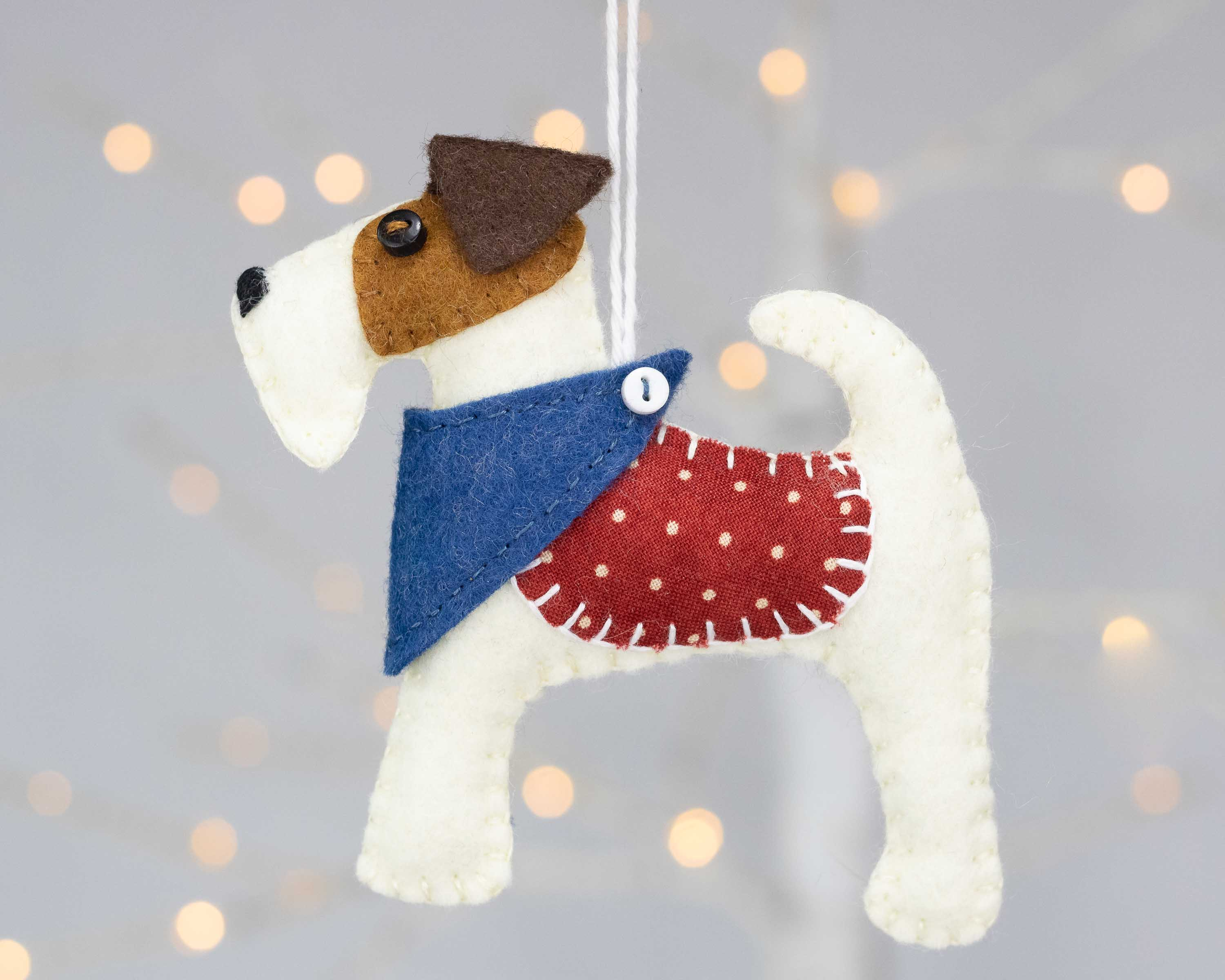 fox terrier felt Christmas
