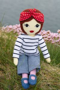 Tilly doll with sea pinks