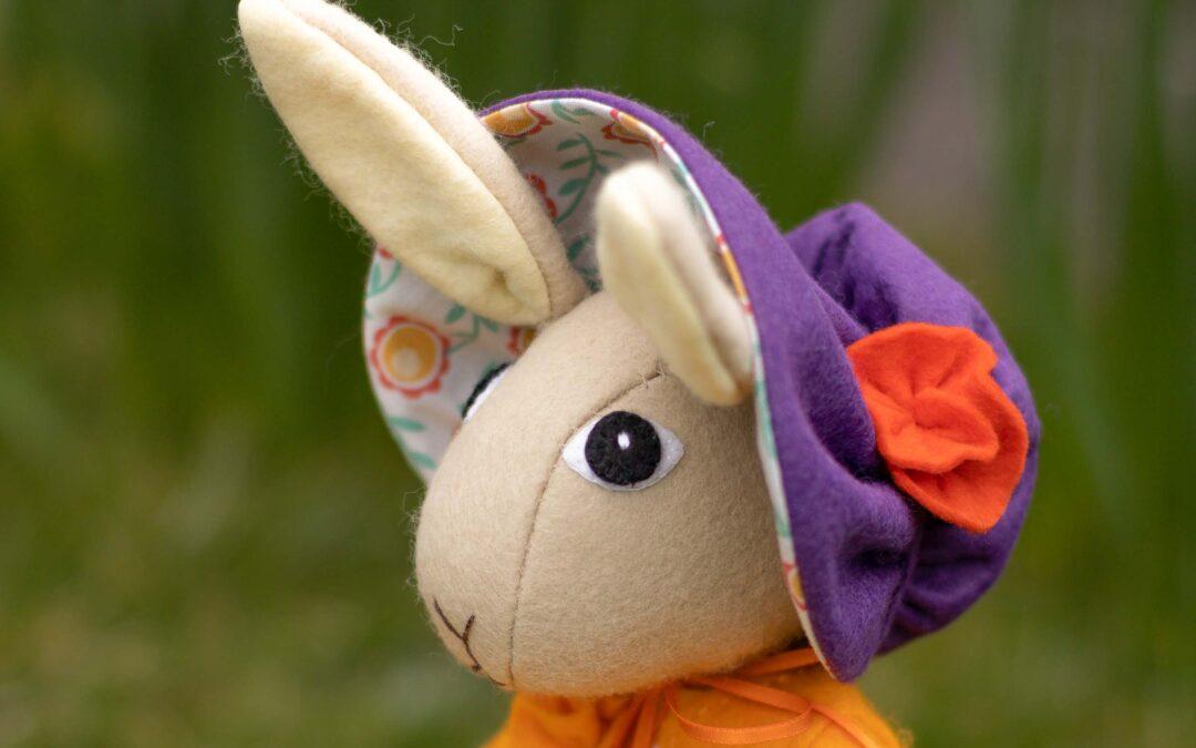 Make an Easter Bonnet and Basket for Tabitha Rabbit!